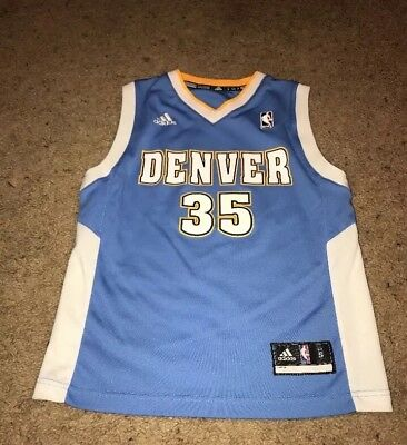 Adidas Denver Nuggets  35 Kenneth Faried NBA Basketball Jersey Kids Small 10 f8686bfee