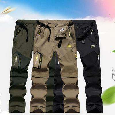 Mens Breathable Quick-Drying Detachable Pant Removable Hiking Quick Drying Pants