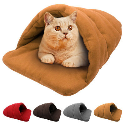 Cat Bed Sleeping Pet Sack Dog Soft Cozy Beds Travel Portable Cat Cave Bed Warm