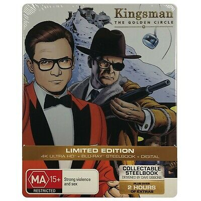 Kingsman: The Golden Circle - Limited Edition 4K and HD Blu-Ray **Region B**
