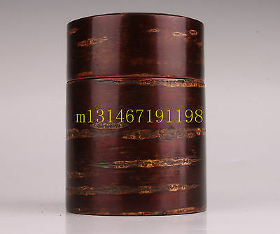 Cherry Bark Wood  Chinese Tea Caddy Collection Decorations Handmade