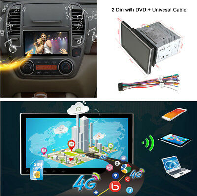 """10.1"""" TFT LCD Touch Screen 2 DIN Car DVD Video Radio Player GPS Android ROM 16GB"""
