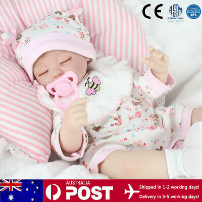 16'' Newborn Baby Doll Silicone Vinyl Reborn Babies Dolls Gifts Toys Real Life
