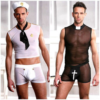 Wow- Sexy Hot Men's Stag Do Fancy Dress Party Costume Outfit Size M & L/xl