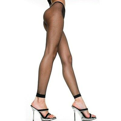 9bfb6894245 MICRO NET TIGHTS Footless Fishnet with Plain Ankle Cuff and Lace ...