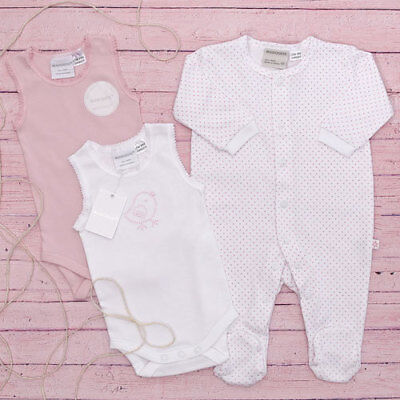 Marquise Pink Soft Cuddles Clothing Set w/ 2 beautiful bodysinglets and growsuit