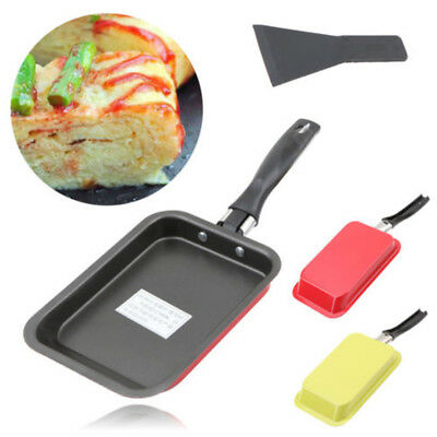 Kitchen Omelet Pan Rectangular Frying Pan Egg Roll Cooking Tools Carbon Steel