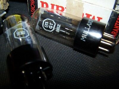 NOS, black plate 5Y3GT rectifiers , Aussie made Quality