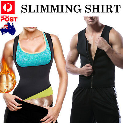 Men's Women's Slimming Body Slim Shaper Underwear Corset Compression Vest Gym Au
