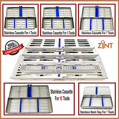 Sterilization Dental Instruments Cassette Rack Surgical Mesh Tray Laboratory Box