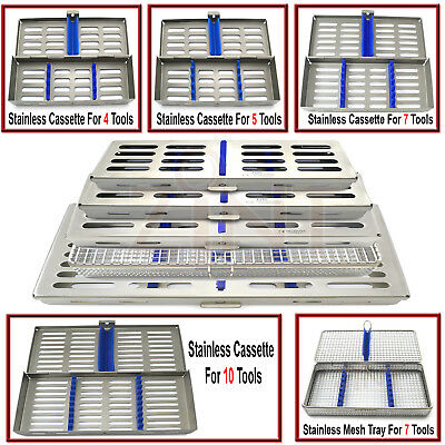 Dental stainless steel Mesh Tray Autoclavable Surgical Sterilization Cassettes