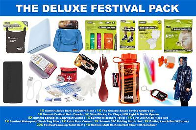 The Deluxe Music Festival Outdoor Camping Dofe Survival Kit Fun Gift Set