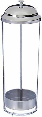 Star Foodservice 26641 Stainless Steel Straw Dispenser Holder, 3.5 by 10.6-Inch,