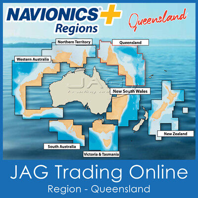 NAVIONICS+ REGIONS QUEENSLAND / QLD AUSTRALIA - GPS CHART MAP SD/MicroSD CARD