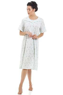 Camille Mint Short sleeved Floral Nightdress
