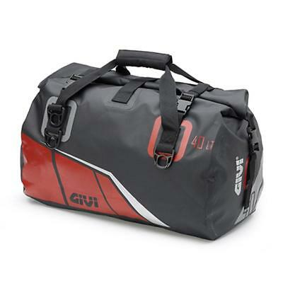Givi EA115BR 40ltr Waterproof Motorcycle Roll Bag, tail bag, holdall. Grey /Red