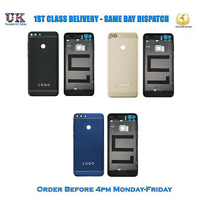 New Huawei P Smart Rear Metal Housing Back Battery Door Cover With Buttons
