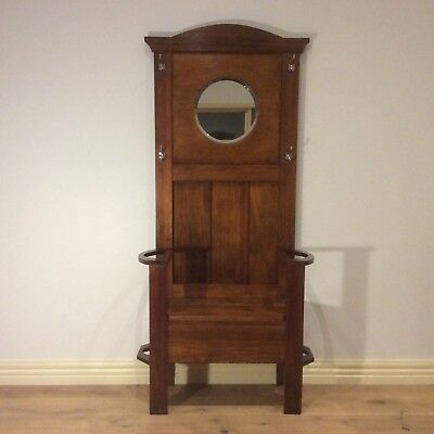 Antique Blackwood Mirror Back Hall Stand. Restored and French polished.