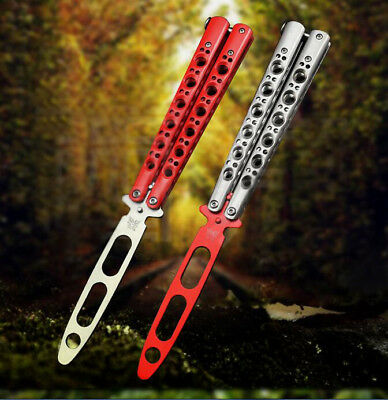 Practice Training BALISONG Butterfly Dull Knife Style Metal Trainer Combat Tool
