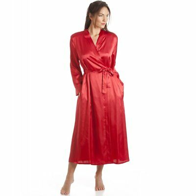 Camille Womens Mesdames luxe Wrap Satin rouge