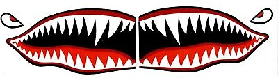 "Flying Tigers shark teeth decal  2.5"" x 5"" WWII plane canoe sticker airplane"