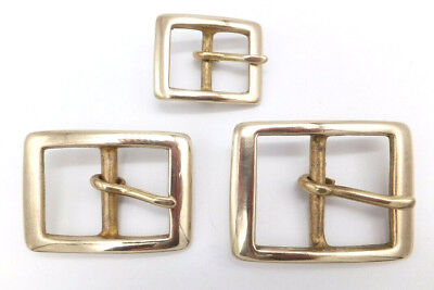 "RECTANGLE [ 3/4"" -1"" -1.1/4"" ] Solid Brass Belt Buckle Leathercraft your Choice"