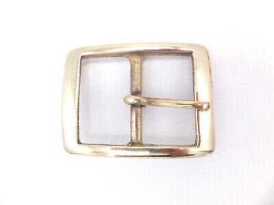 """ENACTMENT SOLID BRASS 1.5/"""" RE 38 MM FULL OVAL BELT BUCKLE LEATHERCRAFT BS13"""