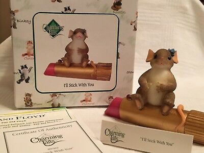 """Charming Tails """"I'LL STICK WITH YOU""""  SIGNED By DEAN GRIFF NIB"""