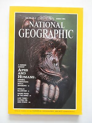 National Geographic Magazine March 1992