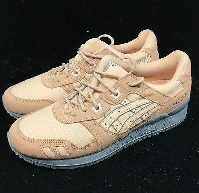 quality design feb31 72dae ASICS GEL LYTE III 3 Bleached Apricot Tan Nude Gray Bu H7L4L-1717 Trainer  NEW