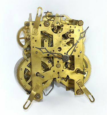 ANTIQUE NEW HAVEN 8-DAY TIME and STRIKE CLOCK MOVEMENT - PARTS OR REPAIR AL166