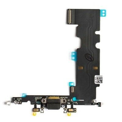 OEM Lightning Charging Port Dock Flex Cable Replacement For iPhone 8 Plus Black