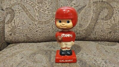 Scarce Early 1960s CFL Calgary Stamps Stampeders Bobble Head Bobblehead Nodder