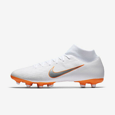 Nike Men s Superfly 6 Academy DF MG Soccer Cleats (White Orange) AH7362 107 f6334cbdf8