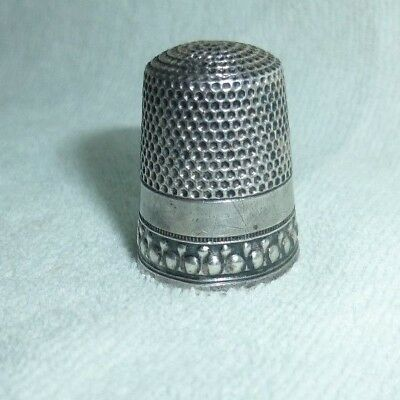 Antique Waite Thresher Co. 1890 Sterling Silver Thimble Size 9