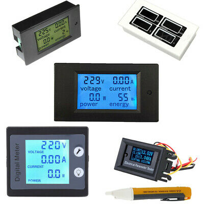 AC 80-260V 0-100A LCD Volt Current Watt Kwh Meter Power Energy Ammeter Voltmeter