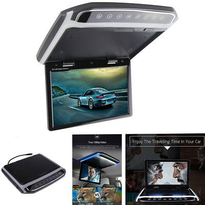 "10.2"" Car Roof Mount Flip Down Monitor Overhead Multimedia Video FM HDMI"