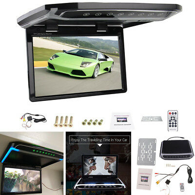 "10.2"" Ultra-thin Flip Down Monitor Overhead Multimedia TFT LCD Car Monitor 12V"
