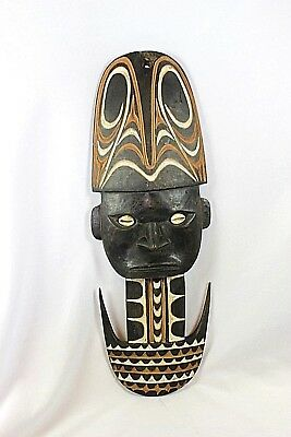 Carved Wooden MASK & BILIM HOOK - Papua New Guinea