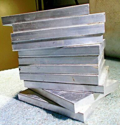 "6061 ALUMINUM MATERIAL 3/8"" THICK X 3-3/4"" LONG X 3"" WIDE BAR PLATE 10 pieces"