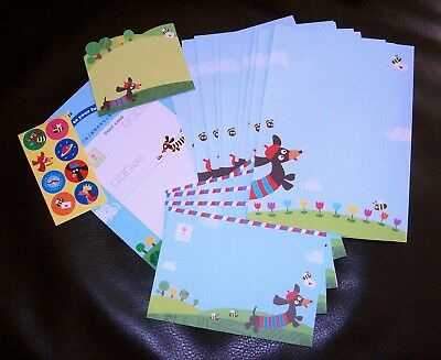 Cute Dachshund Letter Writing Paper Stationery Set Kawaii Decorative Pen Pals