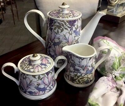 NEW Grace's Teaware Purple Stained Glass 5-PC Tea Set