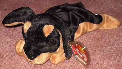 TY DOBY the DOG  BEANIE BABY - MINT with MINT TAG