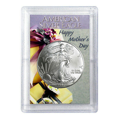2003 $1 American Silver Eagle HE Harris Holder - Mother's Day Design