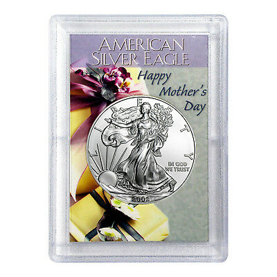 2002 $1 American Silver Eagle HE Harris Holder - Mother's Day Design