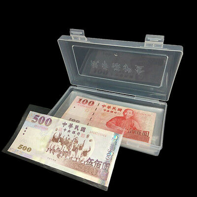 100 X Paper Money Album Currency Banknote Case Storage Collection w/ Box Holder