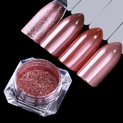 BORN PRETTY Rose Gold Nail Glitter Powder Mirror Nail Art Chrome Pigment Dust