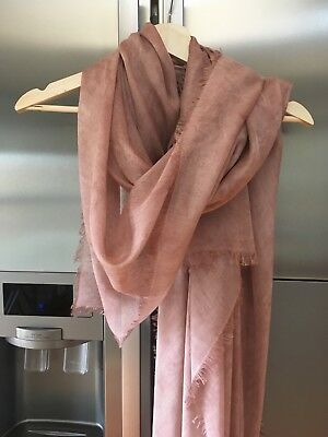 Furla Large Modal Cashmere Scarf -Rose Gold - Made In Italy