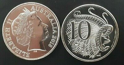 Australia 2018 UNC 10 cent coin supplied in 2*2's  from RAM Bag