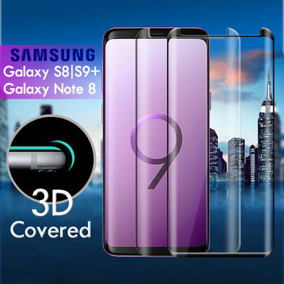 For Galaxy S9 S8+ Plus Note 8 Tempered Glass Full Cover Screen Protector Samsung